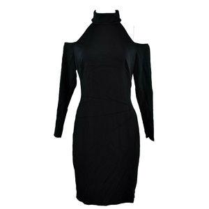Ralph Lauren Cold Shoulder Sheath Dress 10 Black